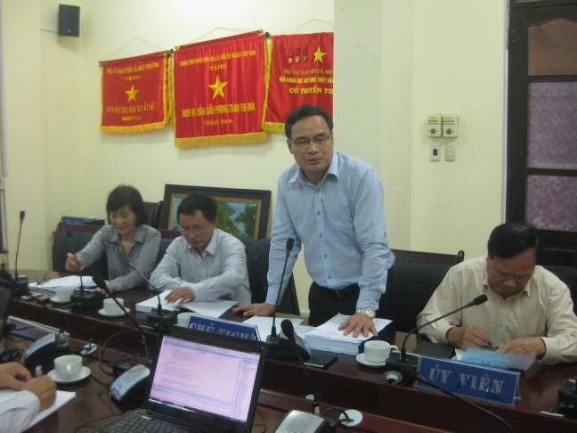 Họp Hội đồng nghiệm thu cấp cơ sở đề tài cấp Bộ 2012 -2014