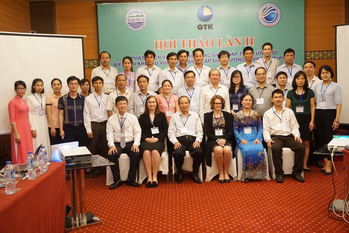 """Hội thảo tham vấn lần 2 Dự án """"Phát triển và thực hiện các giải pháp thích ứng với biến đổi khí hậu khu vực ven biển cấp địa phương  ở Việt Nam"""""""