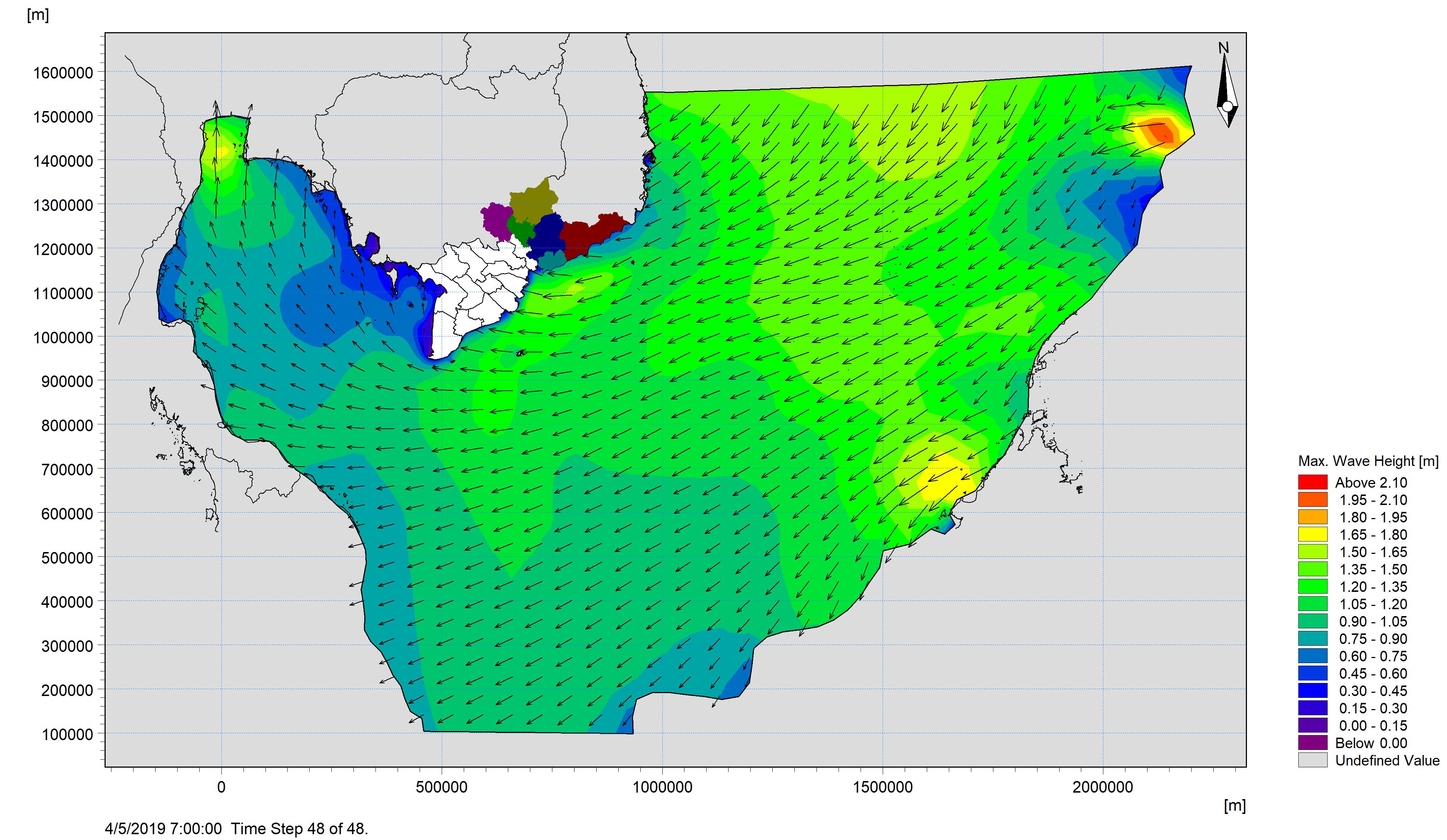 Bản tin dự báo sóng khu vực Nam Bộ từ ngày 03-04-2019 đến ngày 05-04-2019