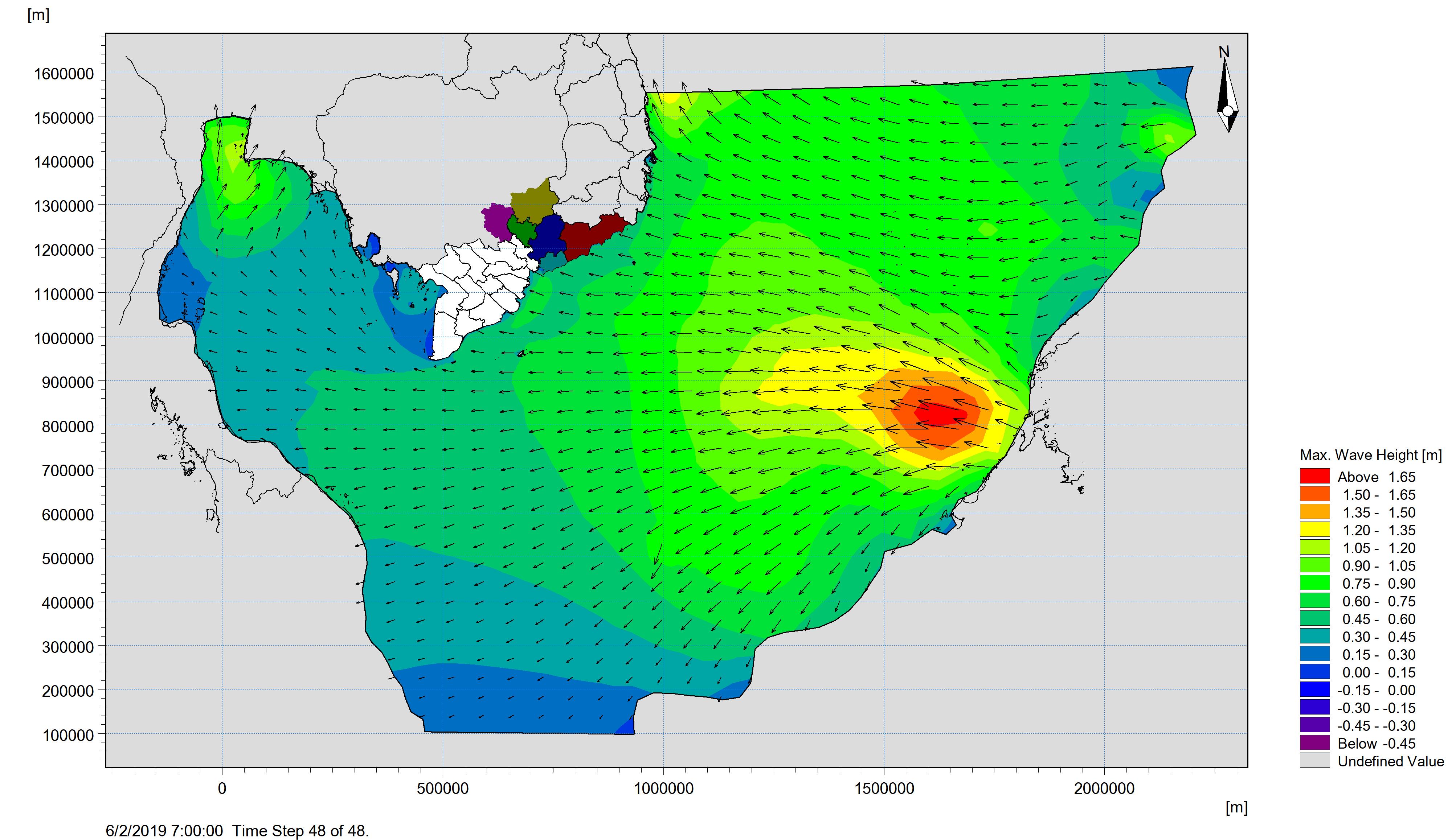 Bản tin dự báo sóng khu vực Nam Bộ từ ngày 31-05-2019 đến ngày 02-06-2019